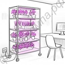 """Система фитоосвещения стеллажей, шкафов для выращивания рассады и цветов """"Хадар"""""""